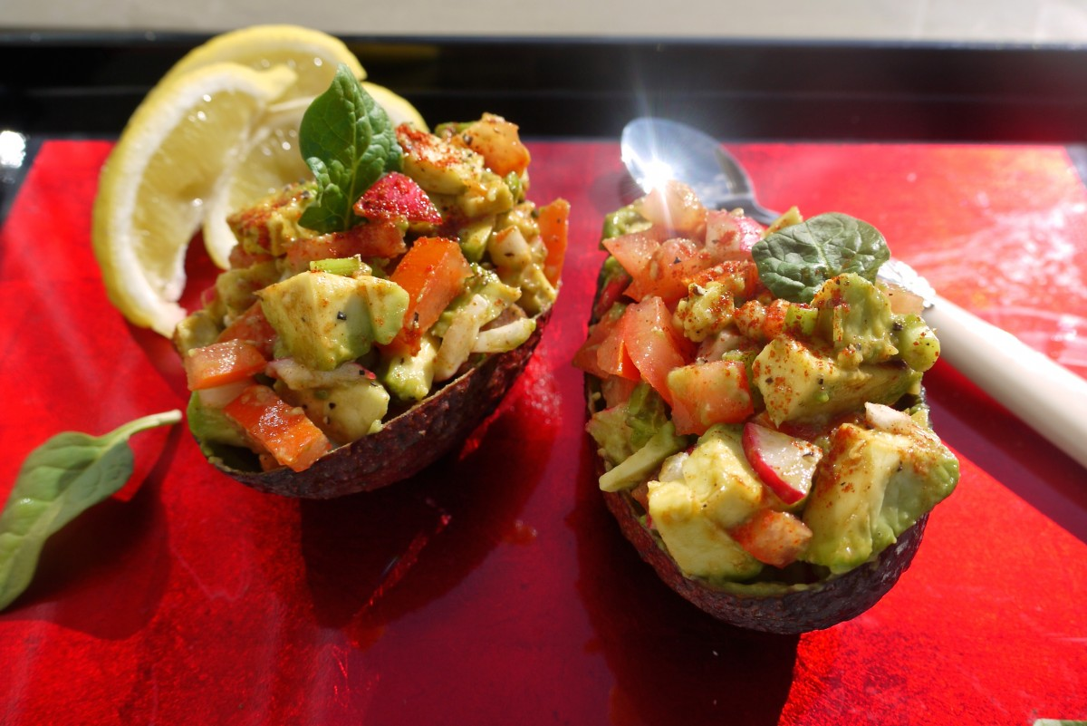 Spicy Salsa Avocado Boats