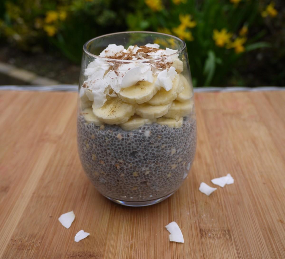 Energising Vanilla Chia and Buckwheat Pudding