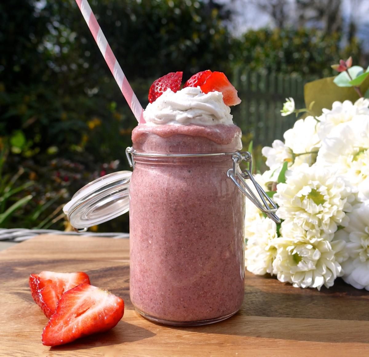 Strawberries and Cream Summer Shake