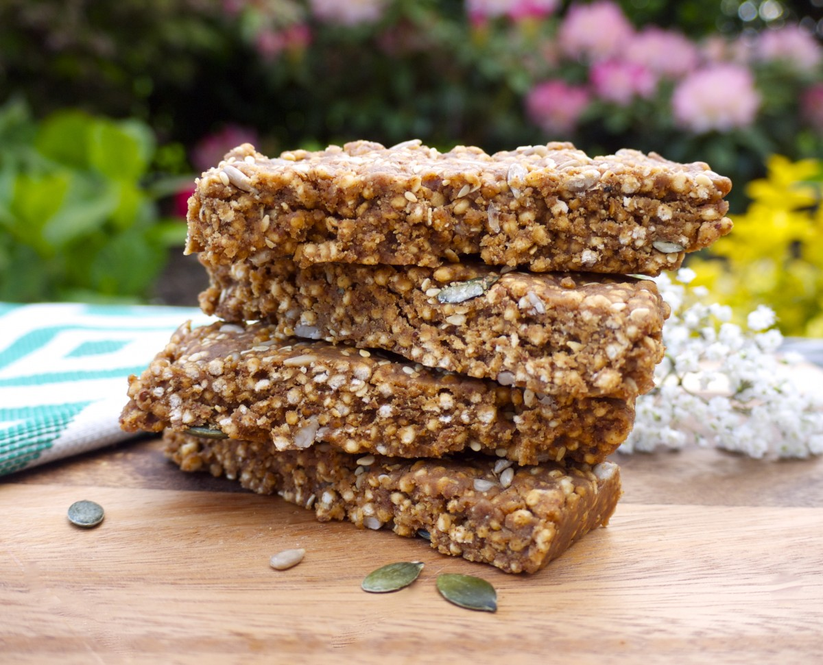 No-Bake Almond Protein bars