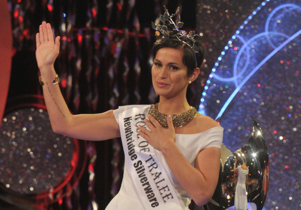 REPRO FREE Philadelphia Maria Walsh ( Cnt of pic ) is the winning Rose at the 2014 Rose of Tralee International Festival . Over 2000 people from around the world packed the dome in Tralee as Daithi O'Se called out the name of the winning rose ... Photo By : Domnick Walsh / Eye Focus LTD © Tralee Co Kerry Ireland Phone Mobile 087 / 2672033 L/Line 066 71 22 981 E/mail - info@dwalshphoto.ie www.dwalshphoto.com