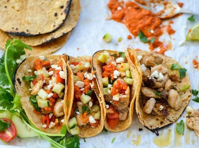 cilantro-lime-chicken-tacos-romesco-sauce-chefdehome-2
