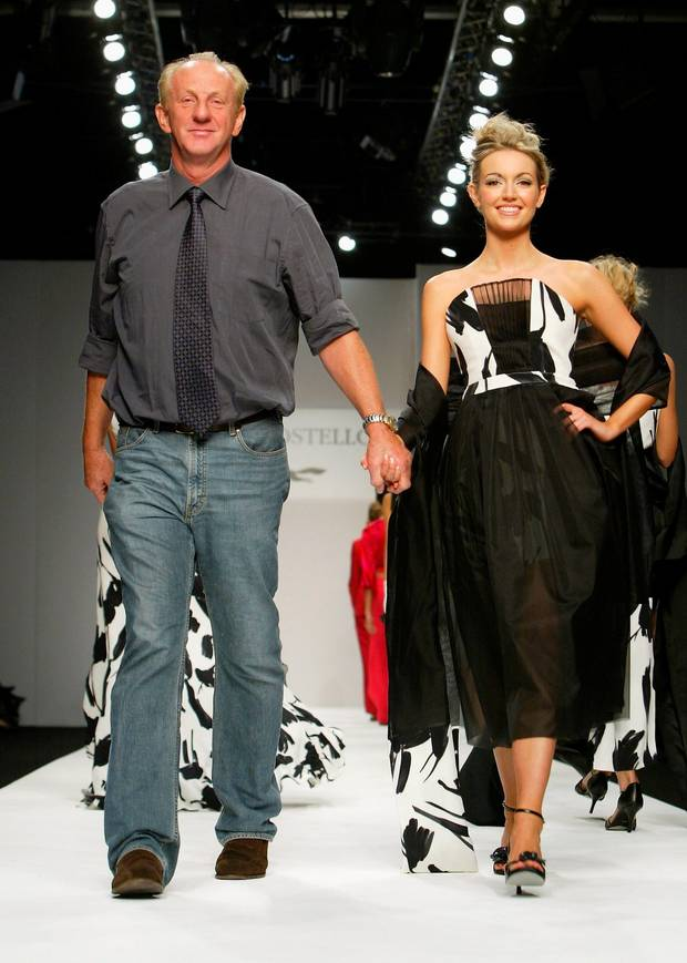 Paul Costelloe and Rosanna Davison, London Fashion Week, Sept. 2004