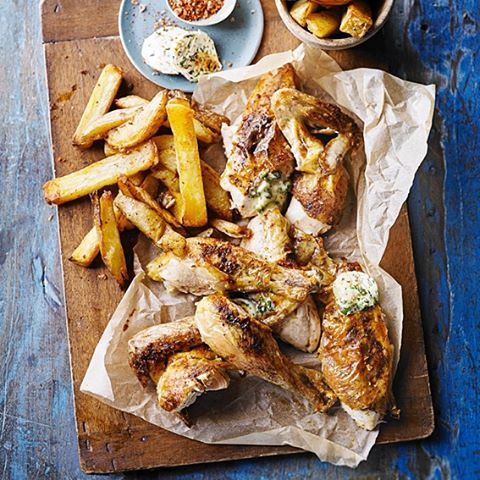 Friday-night-is-treat-night-How-about-our-Quick-roast-chicken-homemade-oven-chips-with-Kiev-butter.-