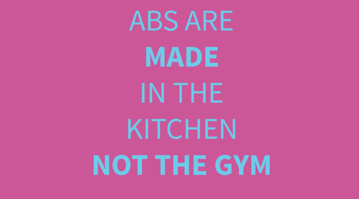 Abs Are Made in the Kitchen! - Rosanna