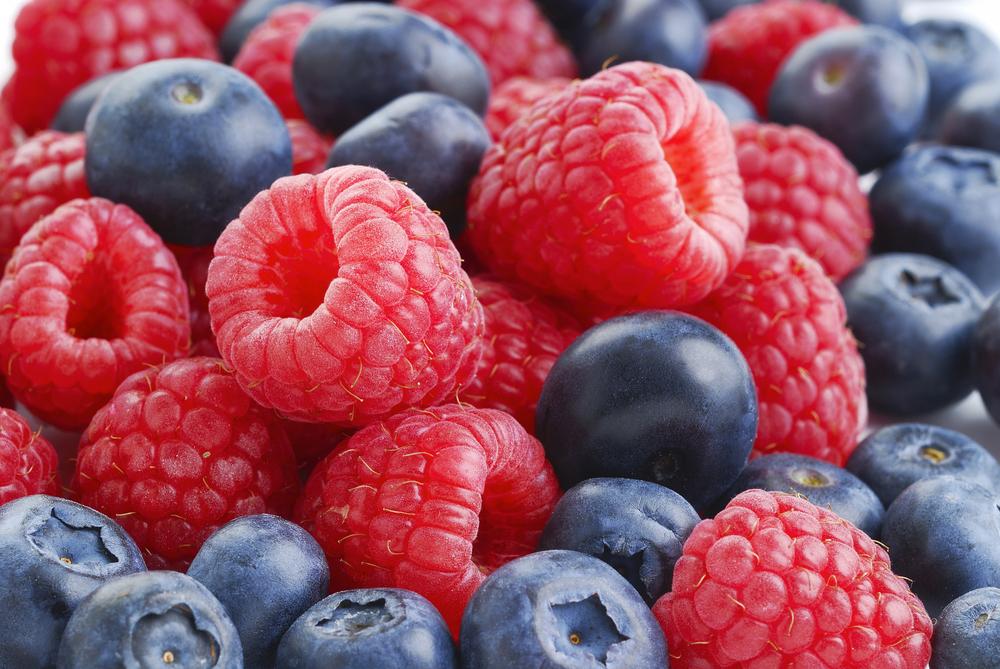 RaspberriesBlueberries