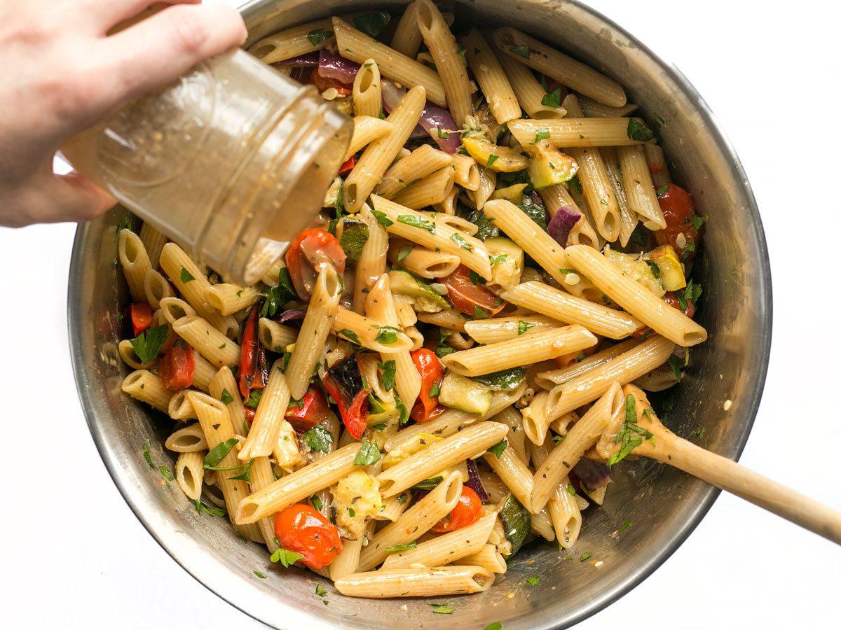 Add-More-Vinaigrette-to-Grilled-Vegetable-Pasta-Salad